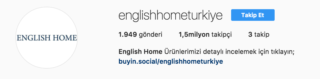englishhome instagram sayfa - Mükemmel İşletme Instagramı İçin İpuçları