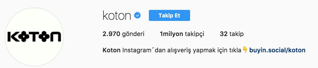 koton instagram sayfa - Mükemmel İşletme Instagramı İçin İpuçları