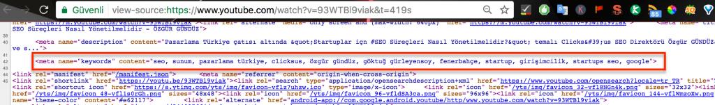 youtube keyword meta 1024x151 - Youtube Rakiplerimin Anahtar Kelimelerini Nasıl Görebilirim?
