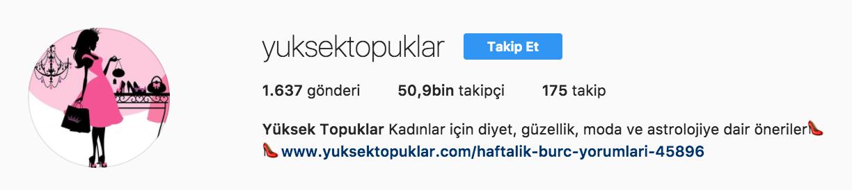 yuksektopuklar instagram - Mükemmel İşletme Instagramı İçin İpuçları