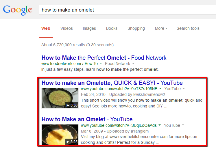 googleda youtube arama sonuçları