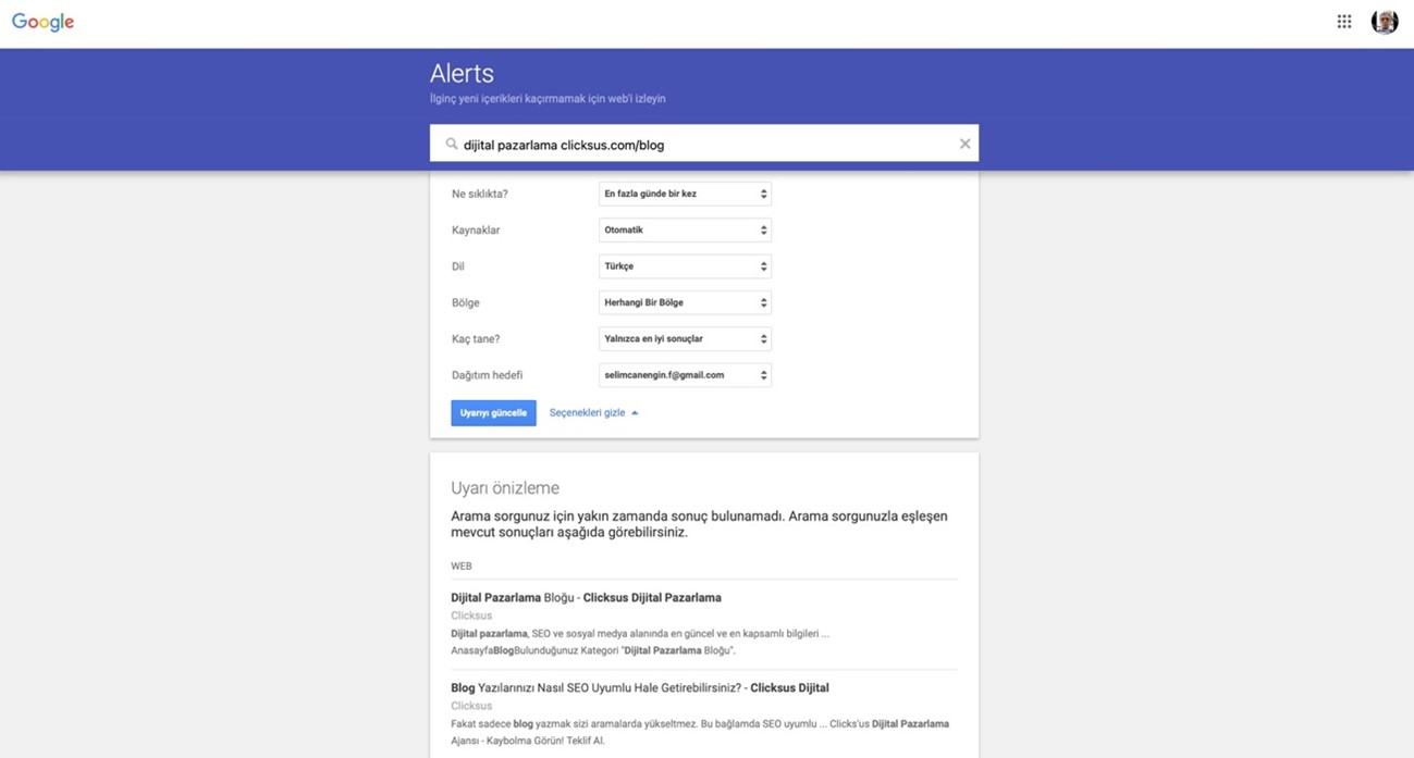 Google Alerts Nedir ? (Kolay Kurulum ve Anlatım)